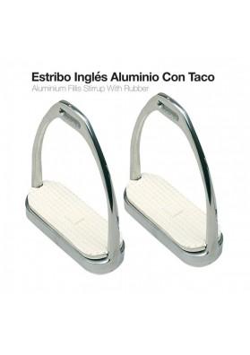 Estribo Inglés Aluminio Con Taco 21108AL-46 12cm.
