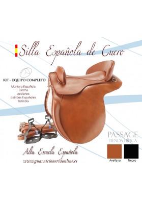 Montura Española De Cuero