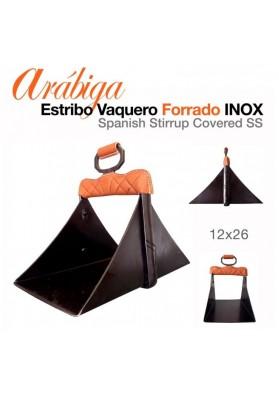 Estribo Vaquero Arábiga Forrado Inox. 12x26