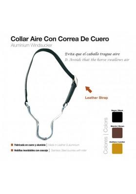 Collar Aire Con Correa De Cuero