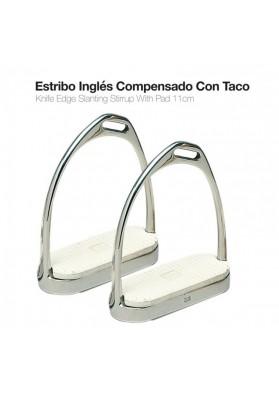 Estribo Inglés Inox. Compensado Con Taco 22117 11cm