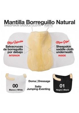Mantilla Con Borreguillo Natural